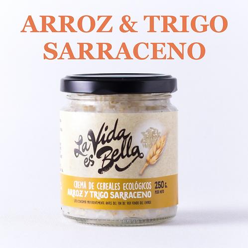 Crema de Arroz y Trigo Sarraceno Caja de 6 und.