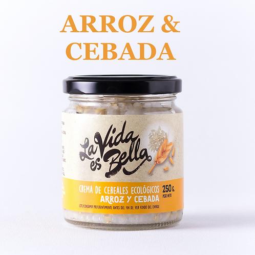 Crema de Arroz y Cebada - Caja de 12 und.
