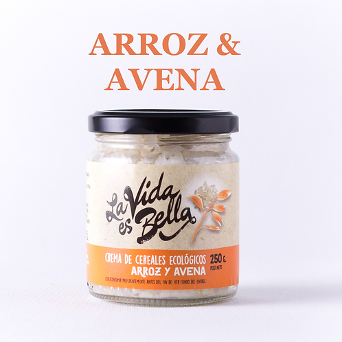 Crema de Arroz y Avena - Caja de 6 und.