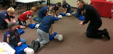 Training Boy Scouts CPR