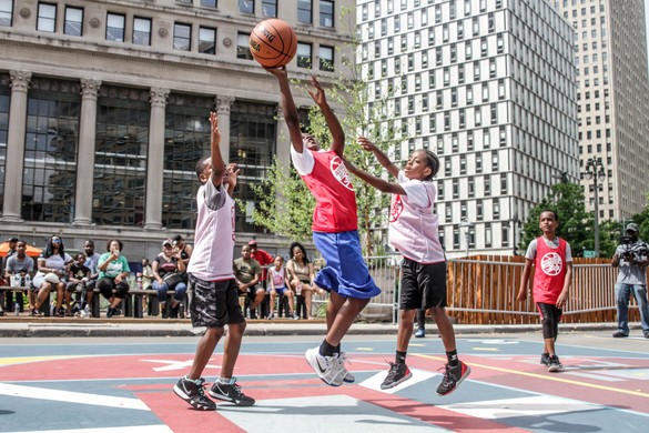 3 on 3 in the heart of Detroit