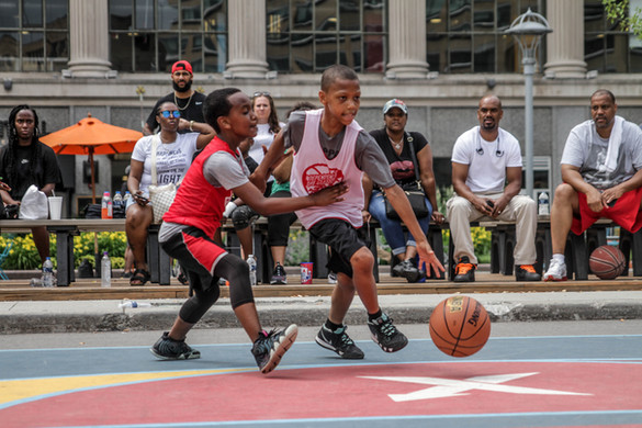 3 on 3 basketball at the Independence Day Classic