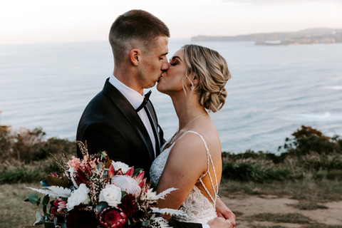 bride and groom portrait at Central Coast