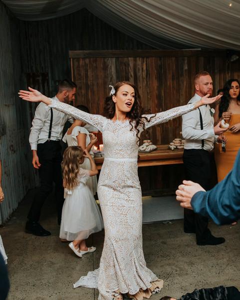 Bride dancing at her reception