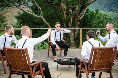 Groom with the groomsmen at Kangaroo Valley Wedding
