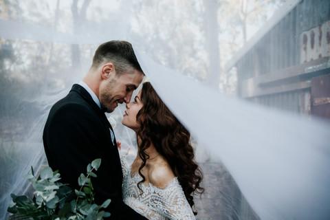 Bride and Groom Portait at Wild Wood, Kangaroo Valley