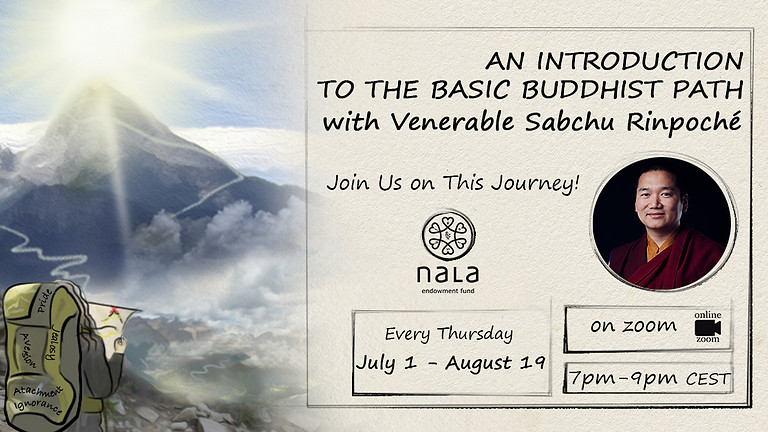 Basic Buddhist Path together with Sabchu Rinpoché. Series of teachings (8lectures)