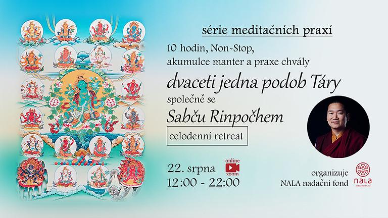 ONLINE 10-hodinová meditace na 21 Tár společně se Sabču Rinpočhem