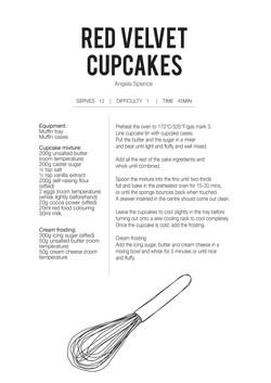 red vel cupcake
