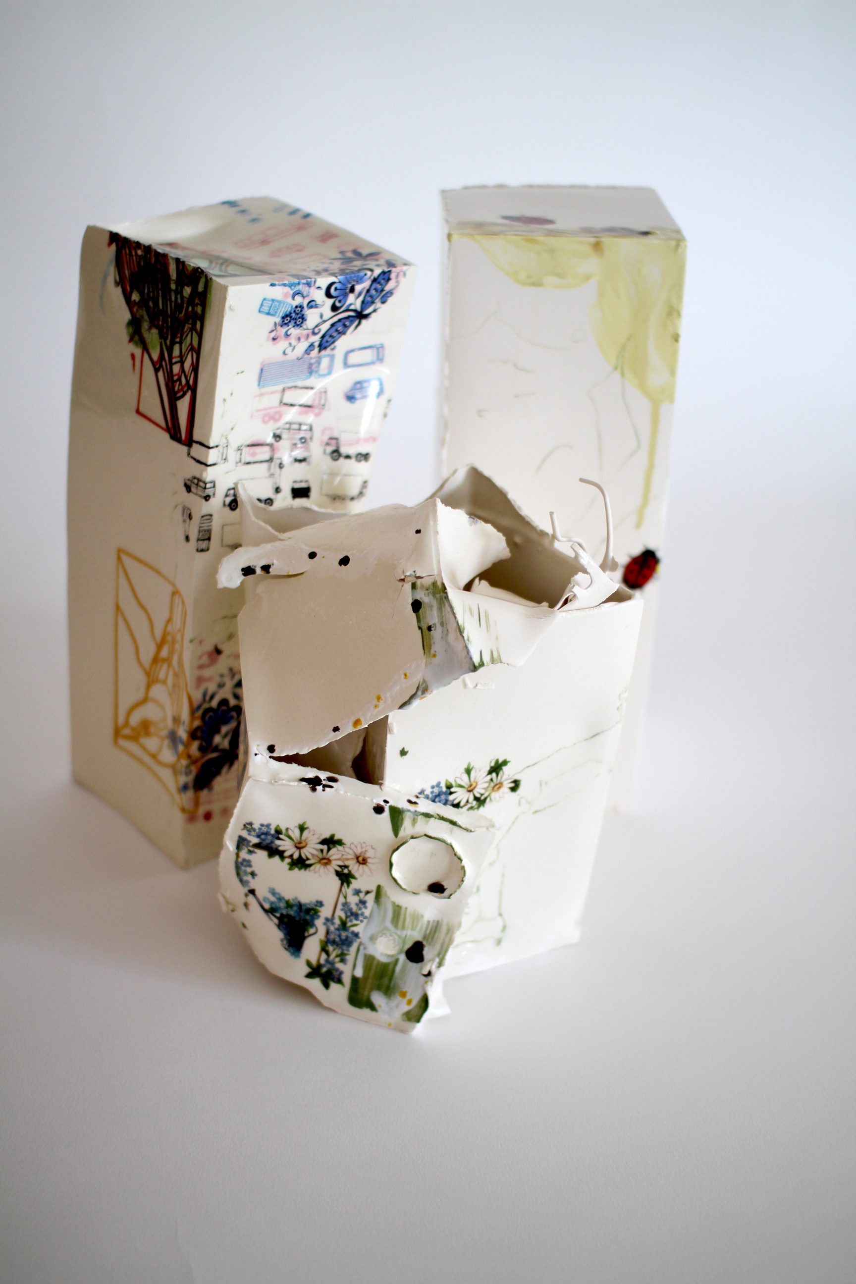 Stages of decay ceramics