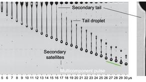 Femtoliter droplets captured in flight