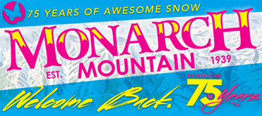 Monarch Mountain 75th Anniversary typography