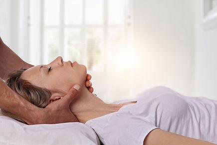 A chiropractic adjustment