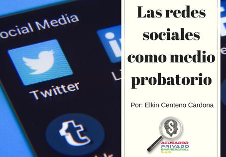 Las redes sociales como medio probatorio