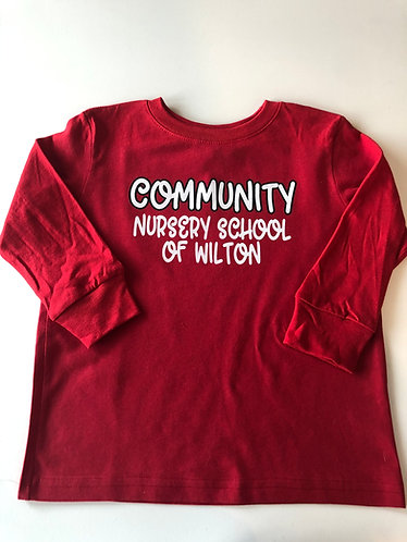 Community Long Sleeve Shirt #2 - Red