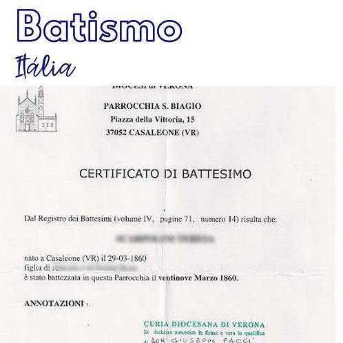 Busca - Certificato di Battesimo com reconhecimento da Curia