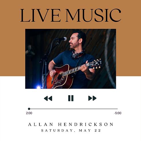 Live Music: Allan Hendrickson