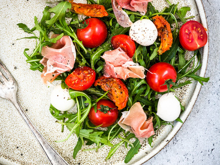 Rucola salade met parmaham