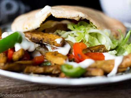 Vegetarische pita shoarma