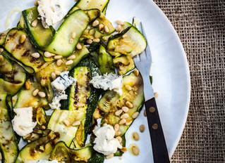 Gegrilde courgette met gorgonzola