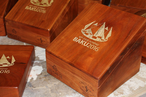 St. Louis Chess Club Olympic Gold Medal Boxes