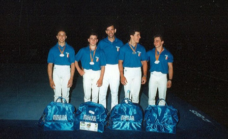 fulvio vailati e giuseppe scuteri - gymnasiadi 1988 barcellona