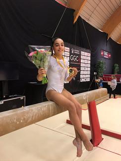 diana barbanotti - finale trave gymnovacup 2019