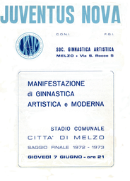 juventus nova mezlo - primo libretto 1972/73