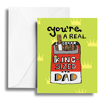 King Sized Dad Note Card