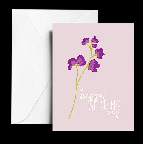 Happy Wedding Day Note Card