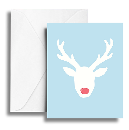 Rudolph Note Card