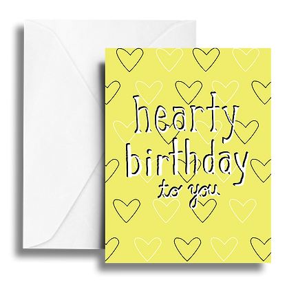 Hearty Birthday Note Card