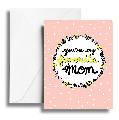 Favorite Mom Note Card
