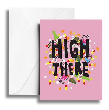 High There Note Card