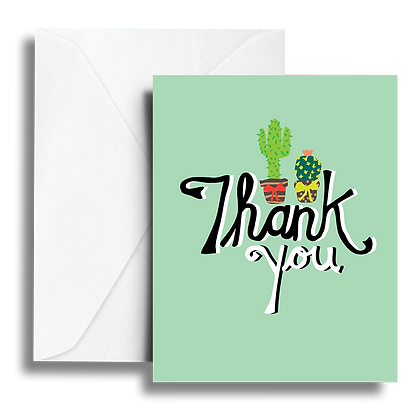 Thank You Cactus Note Card
