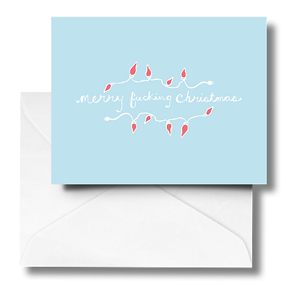 Merry Fucking Christmas Note Card