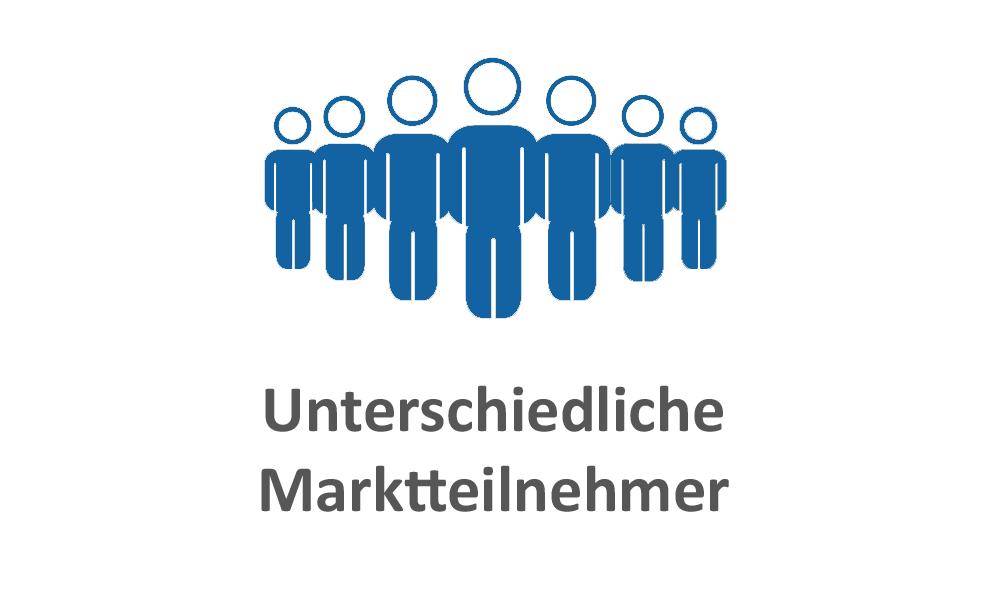 Marktteilnehmer blau