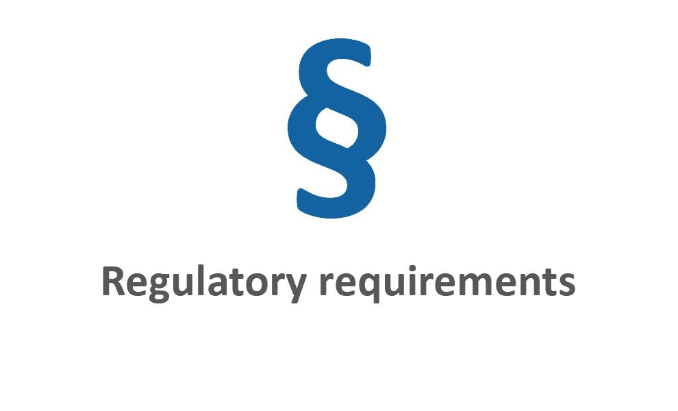 Regulatory requirements blau