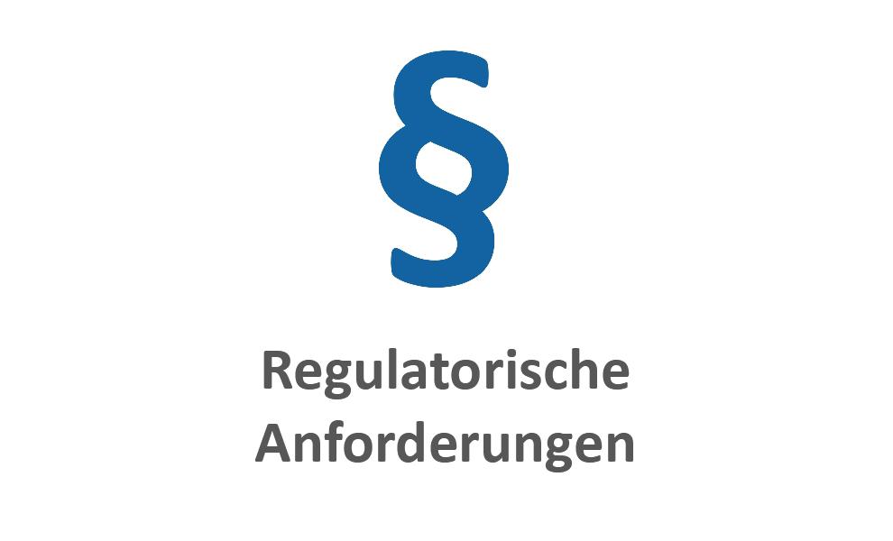 Regulatorische Anforderungen blau