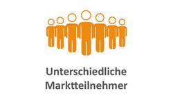 Marktteilnehmer orange
