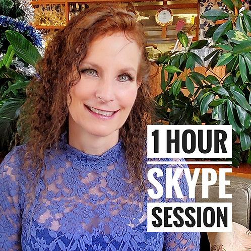 1 hour Skype call!