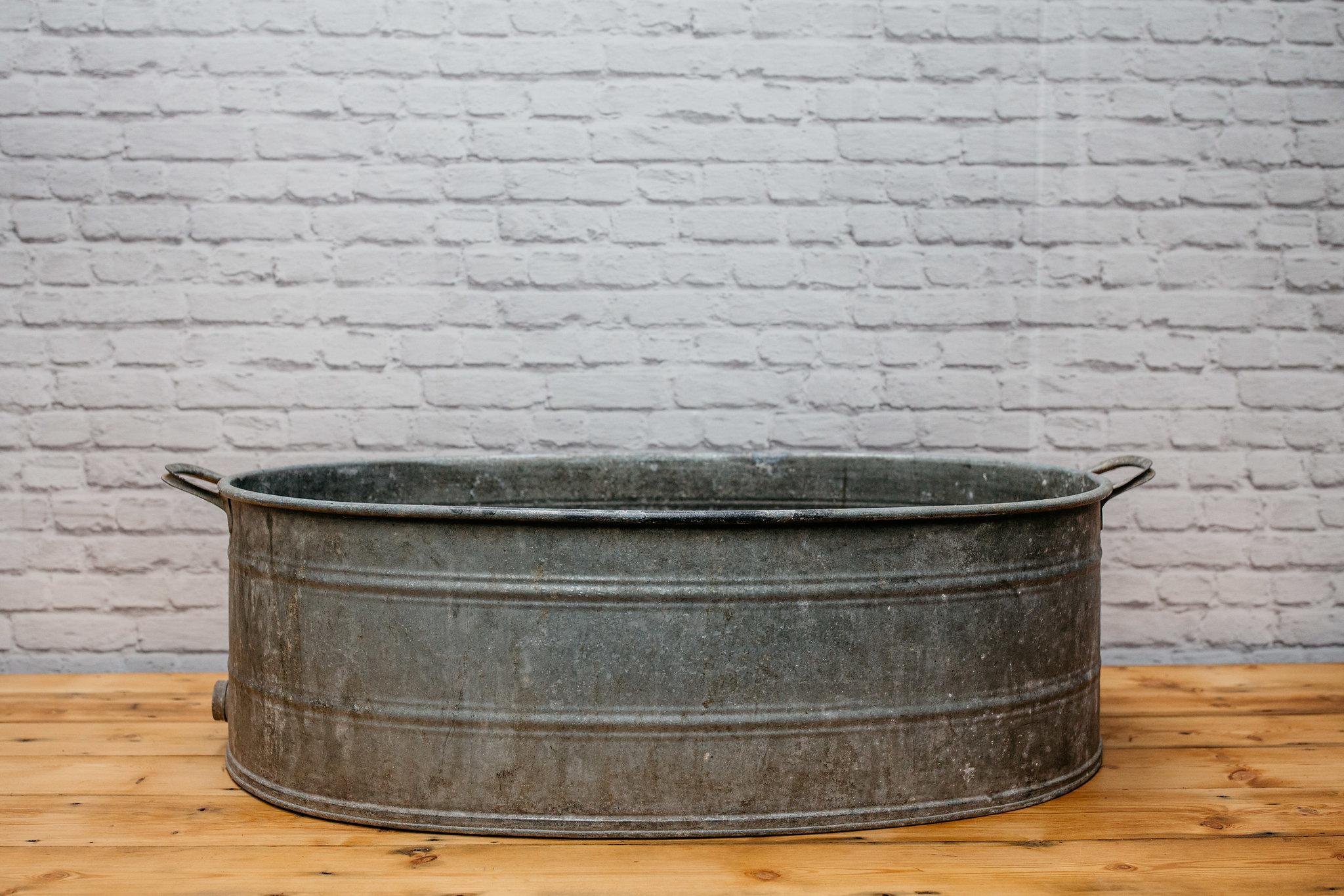Large Galvanised Bath