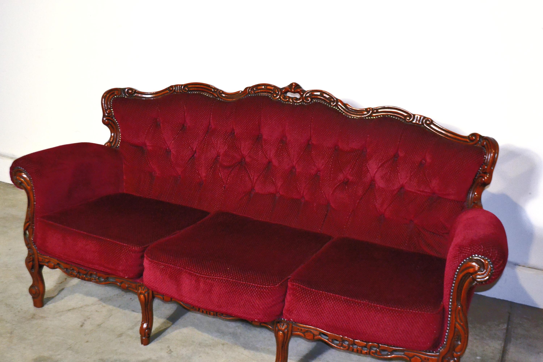 Vintage Claret Sofa