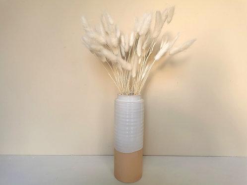 Slim Natural Two Tone Stone & Ceramic Vase