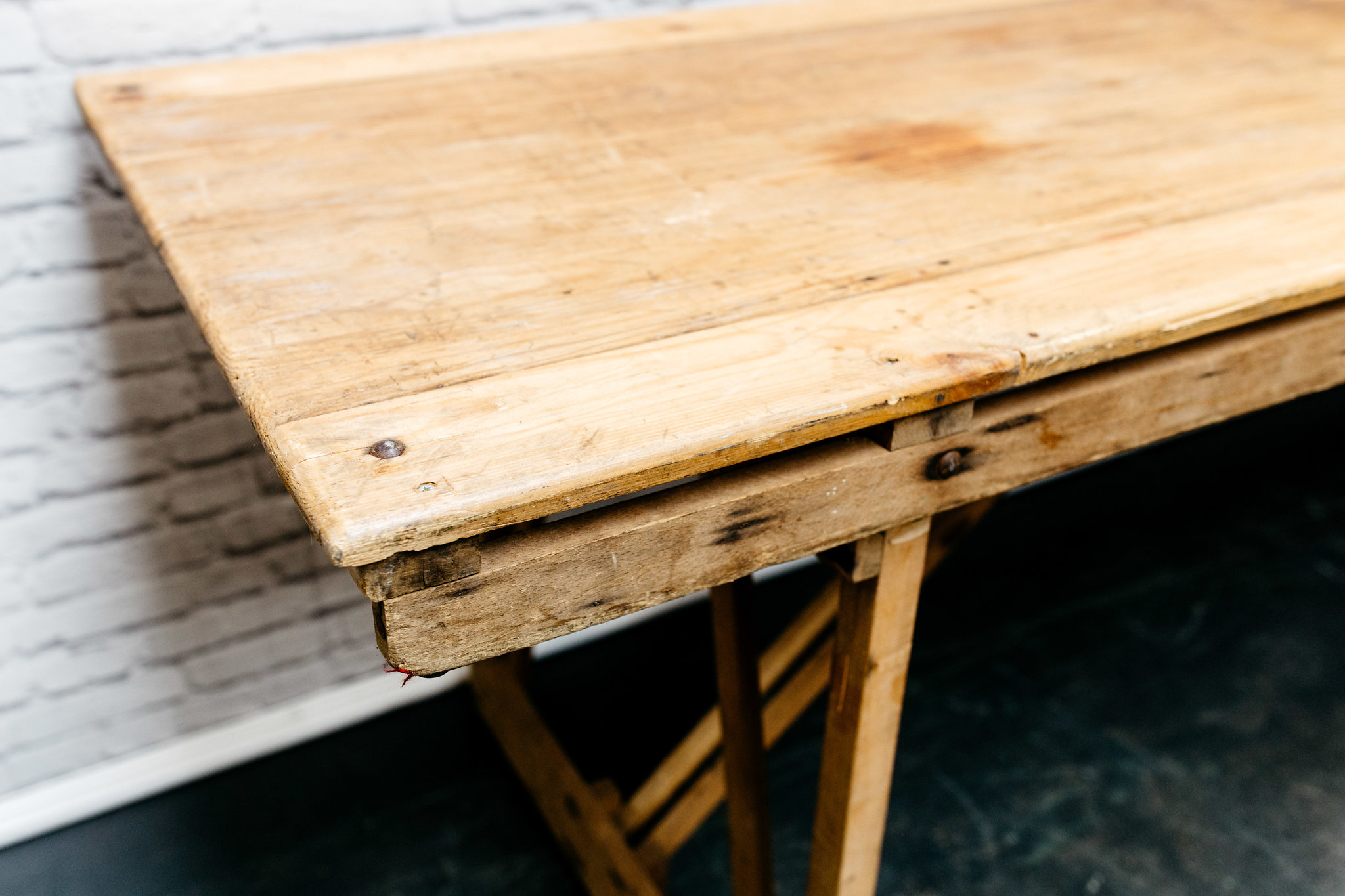 8ft Vintage Trestle Table