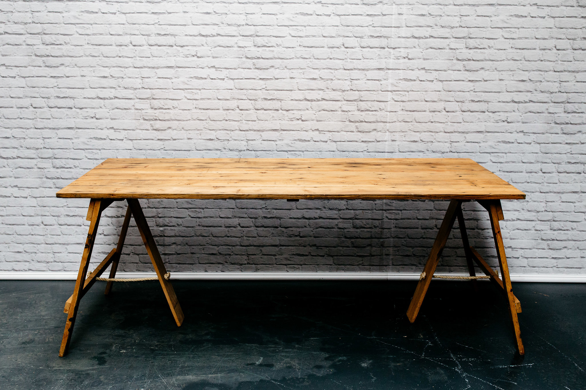 6ft Reclaimed Wood Trestle Table
