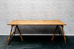 6ft Reclaimed Wood Trestle Table