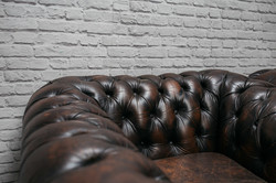 Chocolate Chesterfield Armchair