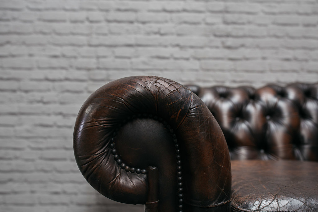Chocolate Chesterfield Armchair