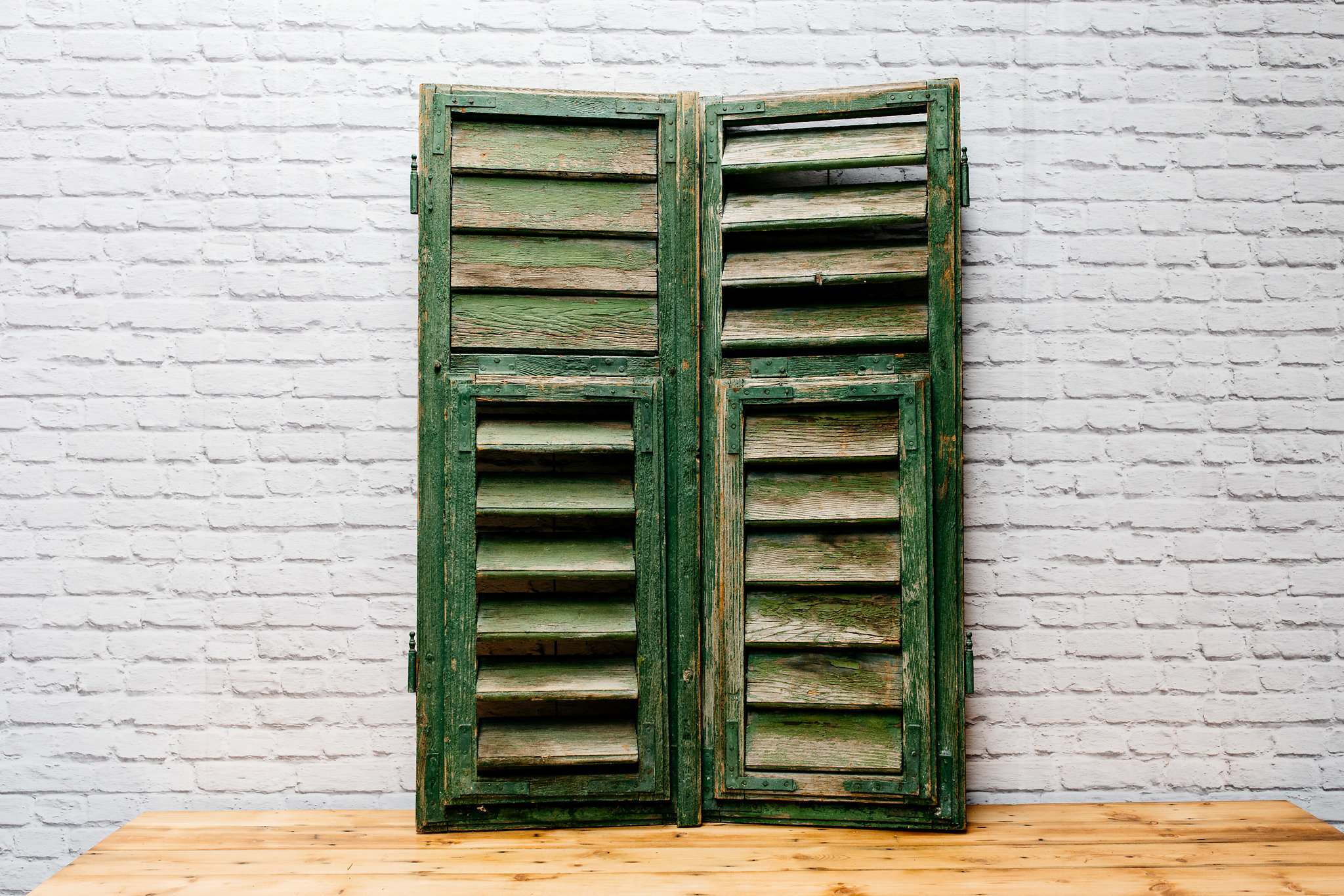 Rustic Green Shutters